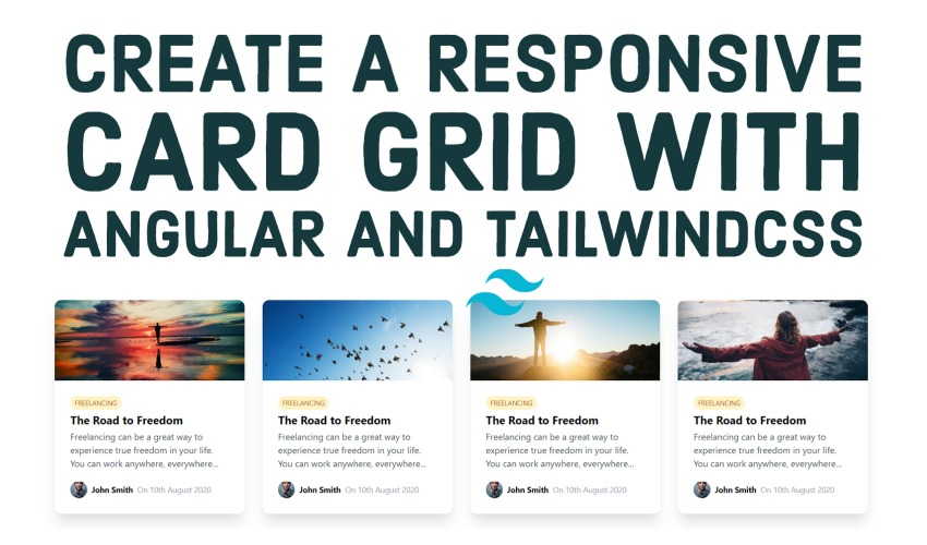 Create a responsive card grid with TailwindCSS